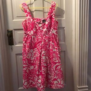 Dresses & Skirts - Neon hot pink Vanessa Virginia Anthropologie dress